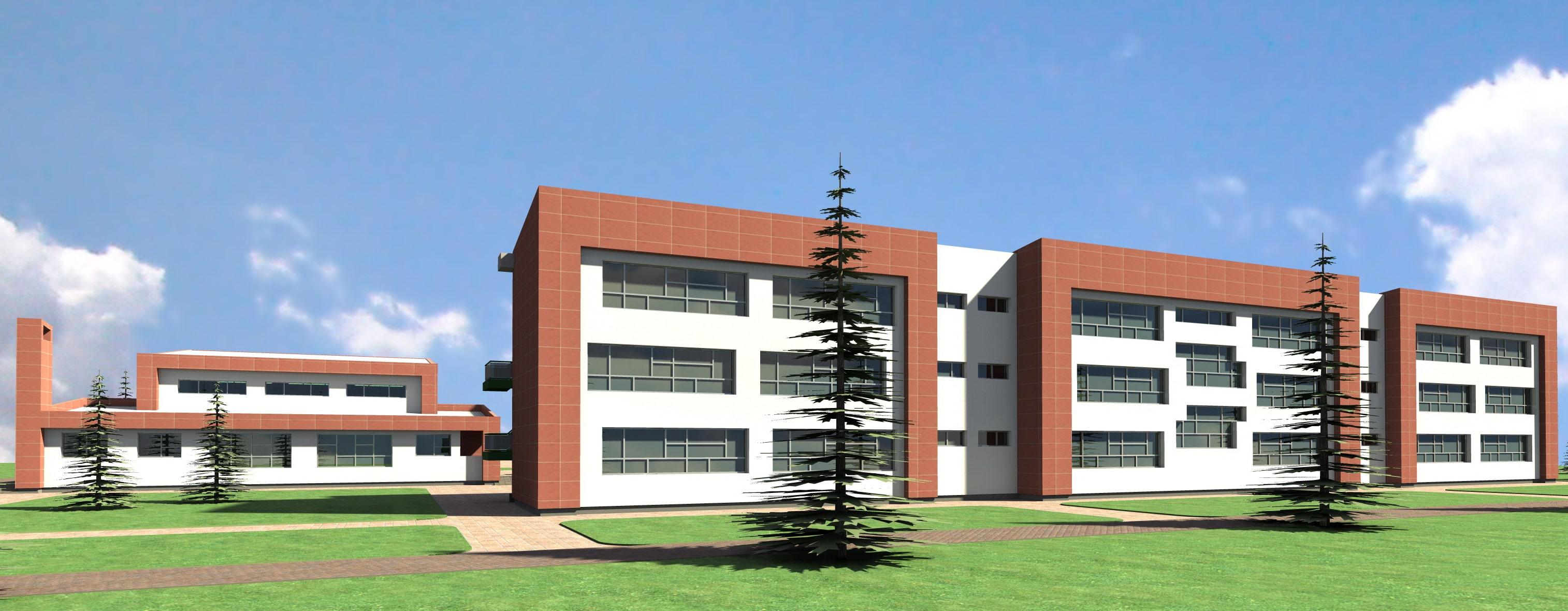 Construction of the High School in Vushtrri