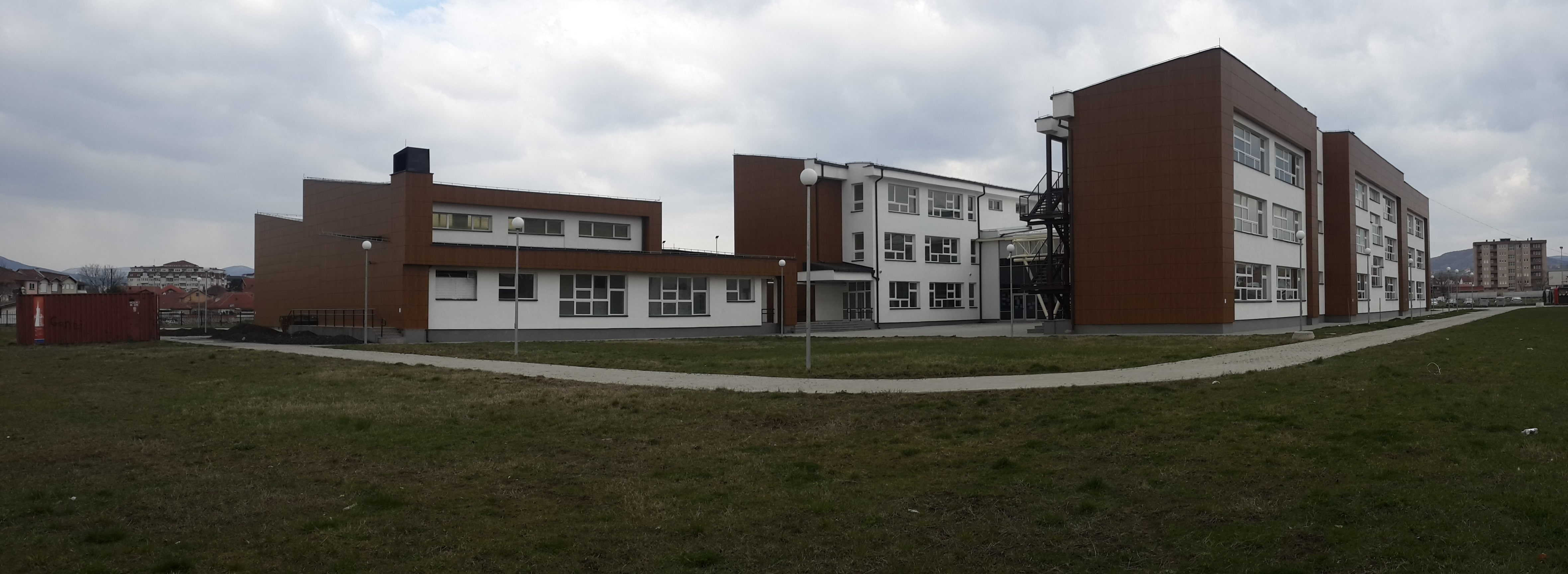 Construction of the High School in Vushtrri